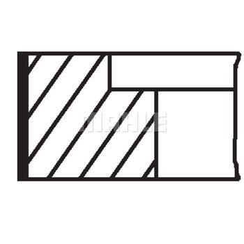 Kolbenringsatz -- MAHLE, AUDI, CABRIOLET (8G7, B4), 100 (4A, C4), A6,...